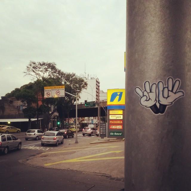Haddock Lobo - Tijuca - RJ #dozetreze #sticker #street #streetart #streetartrio