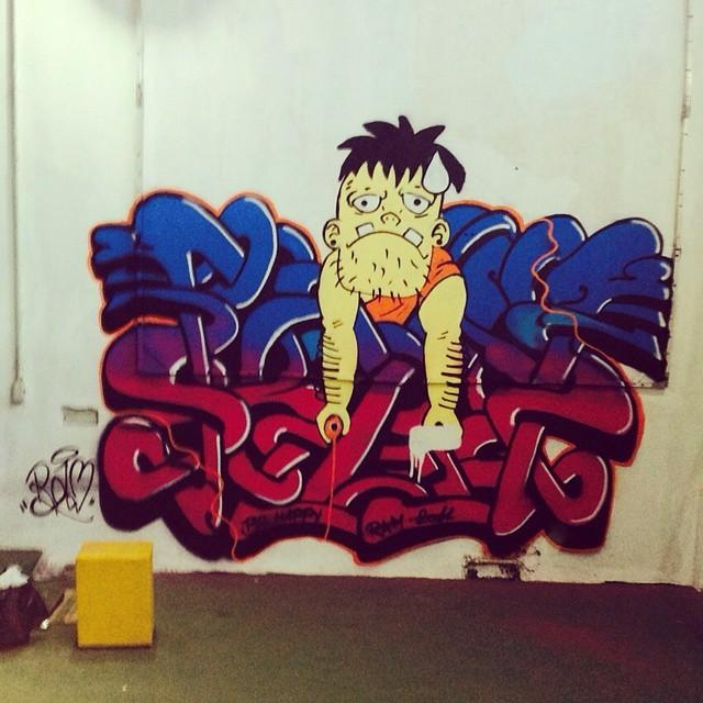 Hoje no intervenção hiphop em Jardim Nova Era - Nova Iguaçu #graffiti #graff #art #arteurbana #arte #brasil #color # colours #draw #lifestyle #pintura #streetartrio #street #tag #urbanart #urban #ram #wildstyle