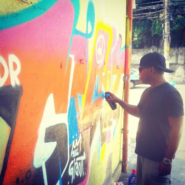 I love letters! #Giant #Colors #streetartrio #KlanD #instagraffiti #TodoDiaRabiscando #RioDeJaneiro