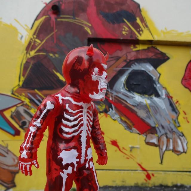 In your face. #skullman #skull #balzac #atomagevampire #riostreetart #streetartrio #urbanart #arteurbana #riodejaneiro