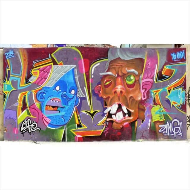 Kovok! @brunolifekvk e @angkvk #kovokcrew #kovok #graffiti #streetartrio #ruasdazn #galeriaaceuaberto