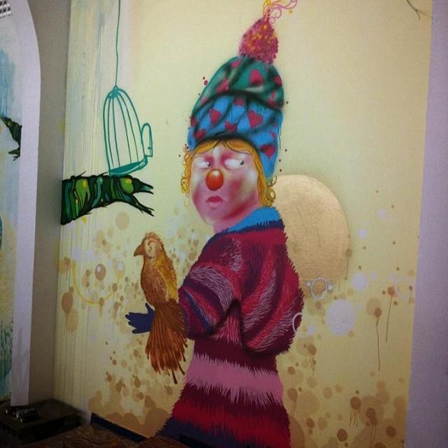 Meu direito a Liberdade. Pintura realizada no DEGASE Complexo Penitenciário da Ilha #spam #viniciusspam #graffitiart #graffiti #aartvaisalvaromundo #instaart #instagraffiti #whiter #clown #clowngirl #graffitisalva #loveclowns #freedom #collors #circus #conteporanyart #spray #streetartrio #artwork #artrio #artrj #texture #2014