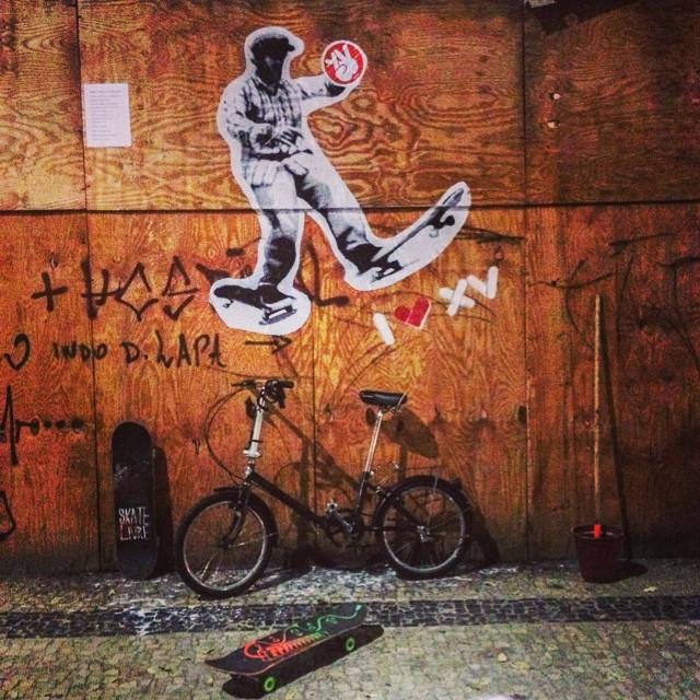 O rolé da madruga foi no estilo vandal. #ilovexv #pasteup #palito #wilbordomina