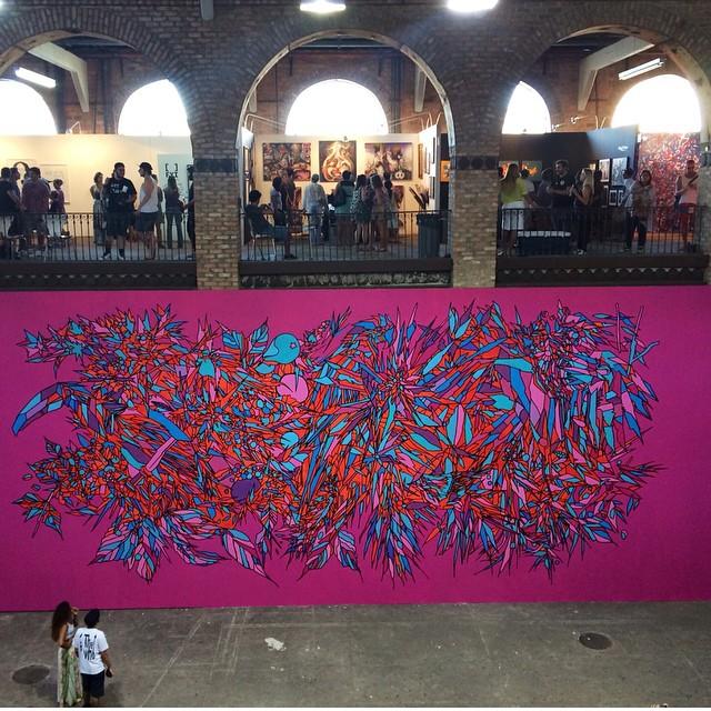Painel do grupo @bicicletasemfreio, no ArtRua 2014.