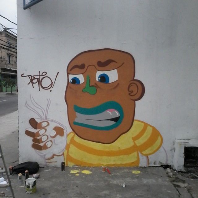 Quase pronto! #ruasdazn #pato #streetartrio #arturbana #graffitiart