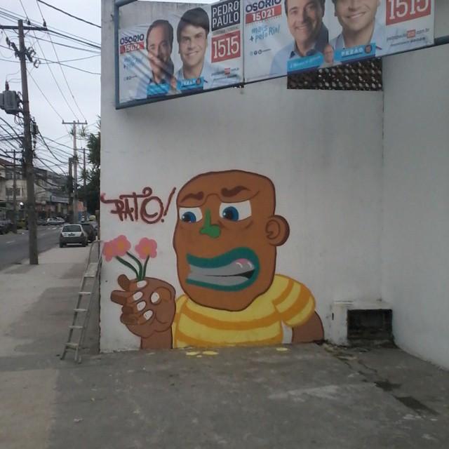 Resultado final ! #ruasdazn #pato #streetartrio #arturbana #graffitiart