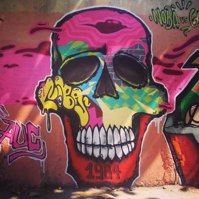 Skull Colors #artistasurbanoscrew #aucrew #skullcolors #minhacaveira #iloveskull #iloveart #amoarte #coresdosuburbio #instagrafite #instagraffiti #ilovegraffiti #writers #graffitirj #riodejaneiro #riograffiti #graffitiwriters #crew #spraypaint #urbanart #ruasdazn #ipr630 #penha #worldgraffiti #artederua #StreetArtRio 2014