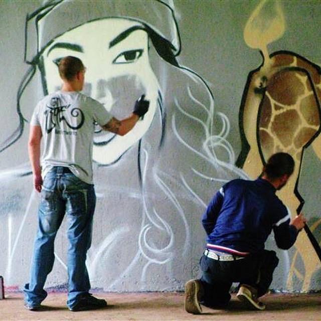 Spray painting...