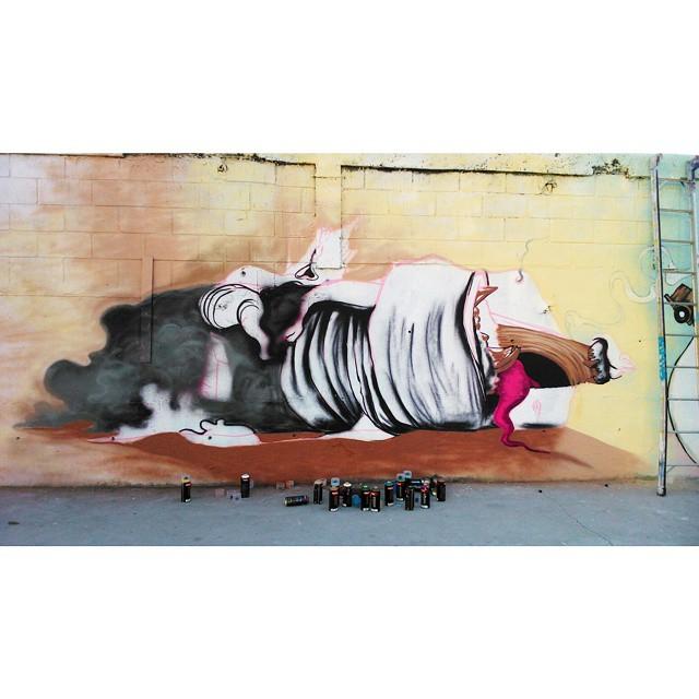 Termina amanhã. Metrô Rio, estação Vicente de Carvalho #processo #process #streetart #streetartrio #galeriaaceuaberto #galerio #novecinco #heitorcorrea @galeriooficial