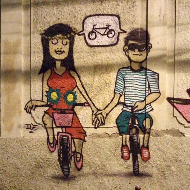Vaga Viva #somosgoma #bike #bike #leandroice #streetartrio #instagrafite #graffiti
