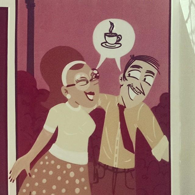 Vamos tomar um café? #job #streetcomics #streetart #streetartrio #detail #detalhe #bistrô #dedinhodeprosa #lapa