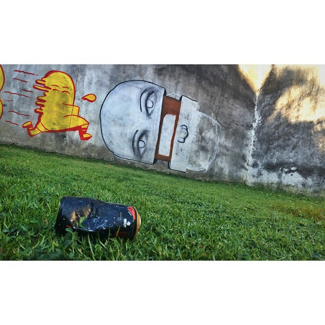 Work in progress • Cosme Velho - RJ #streetartrio #graffitiart #pngone @instagrafite
