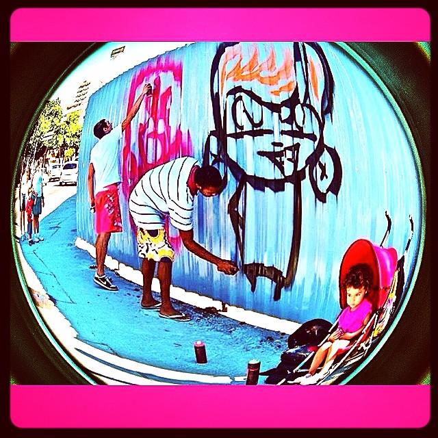 #djonereal &  @sockppxi  #kids #action   @marygirlstyle #streetart #streetartrio #graffiti