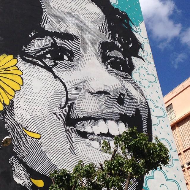 foto de @ArteRuaRio & arte de rua - stencil de Izolag Armeidah @izolag e colorido de Ananda Nahu @anandanahu   #ArteRuaRio #izolag #anandanahu