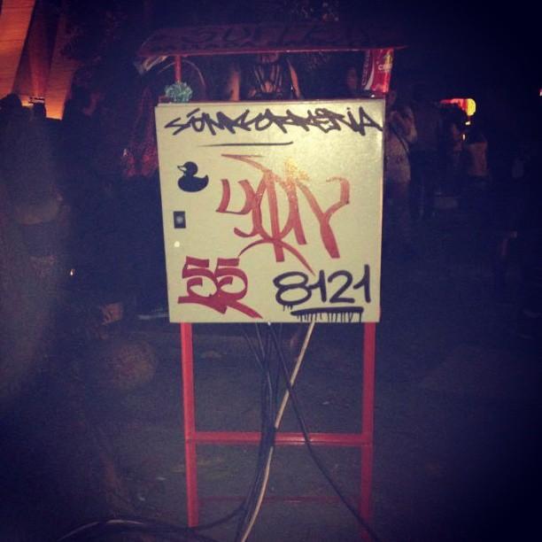 Arte Core, MAM. #sticker #patodebanheira #tag #artecore #streetartrio #intervenção