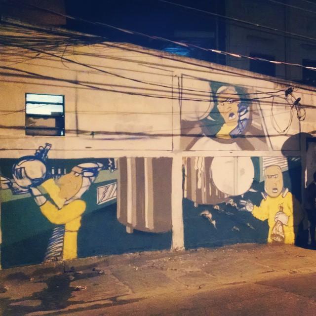 Boa noite! #historiasemfim últimos quadros, depois vem as falas! #streetcomics #streetartandgraffiti #streetartrio #galeriaaceuaberto #barbeiroo #cazesawaya