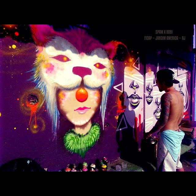 Comunidade FICAP - Jardim América Rj #spam #viniciusspam #clown #face #circus #streetartrio #streetart #instaart #instagrafite #instagraffiti #graff #graffiti #graffitart #whiter #worldart #artrj #artrio #collors #paint #painting #iloveclowns #2014