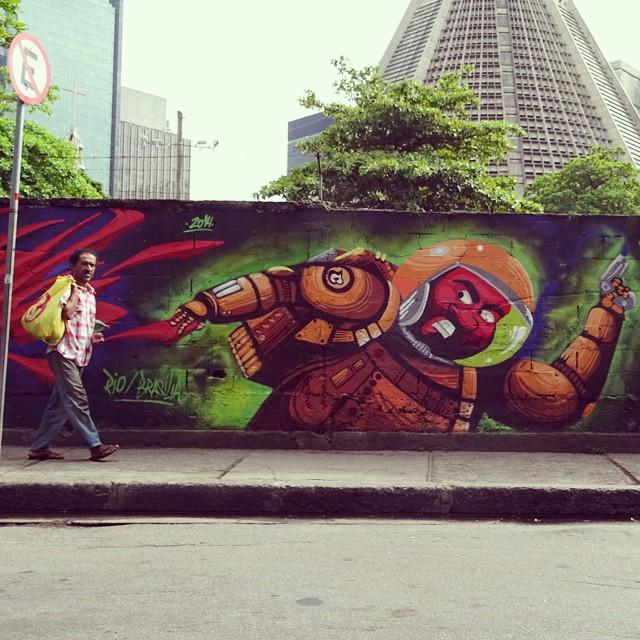 Conexão #rio #brasilia com #sowotto e #efixis na #lapa #barbudinhoo #space #cazesawaya #streetart #streetartrio