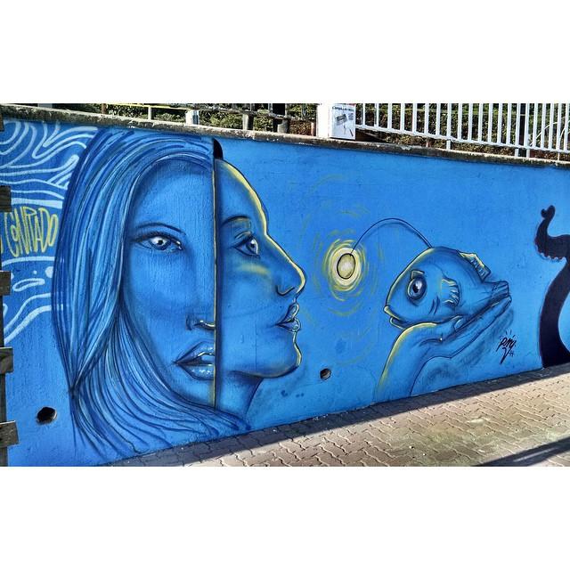 De hoje no Cantão, praia de São Conrado. Valeu @warkrocinha pelo convite! • São Conrado - RJ #streetartrio #graffitiart #pngone @instagrafite