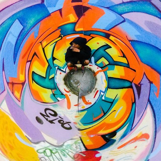 Graffiti all day !!! #EraCircus 2013