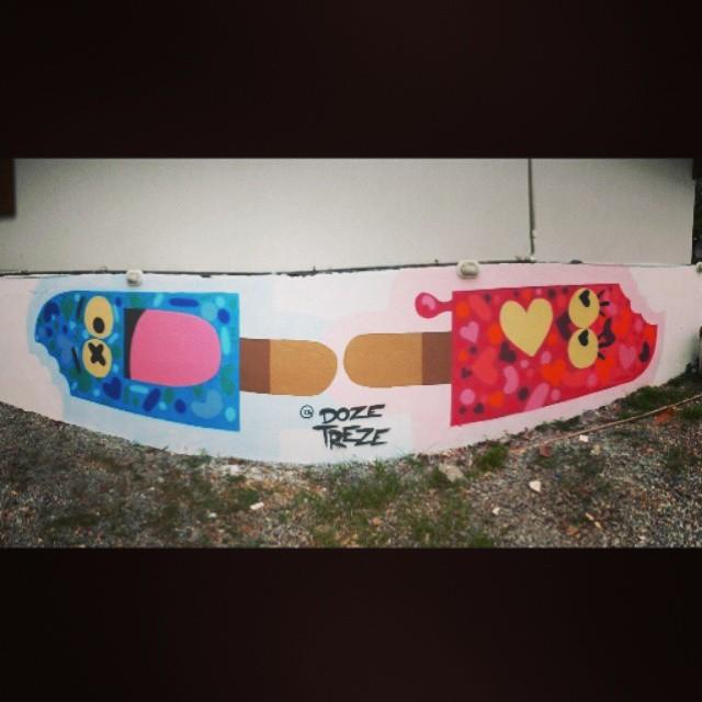 Graffiti na Fundação @xuxamenegheloficial... valeu @carlosbobi @brucamuniz #dozetreze #graffiti #streetartrio #streetart #street #riodejaneiro #brasil #xuxa