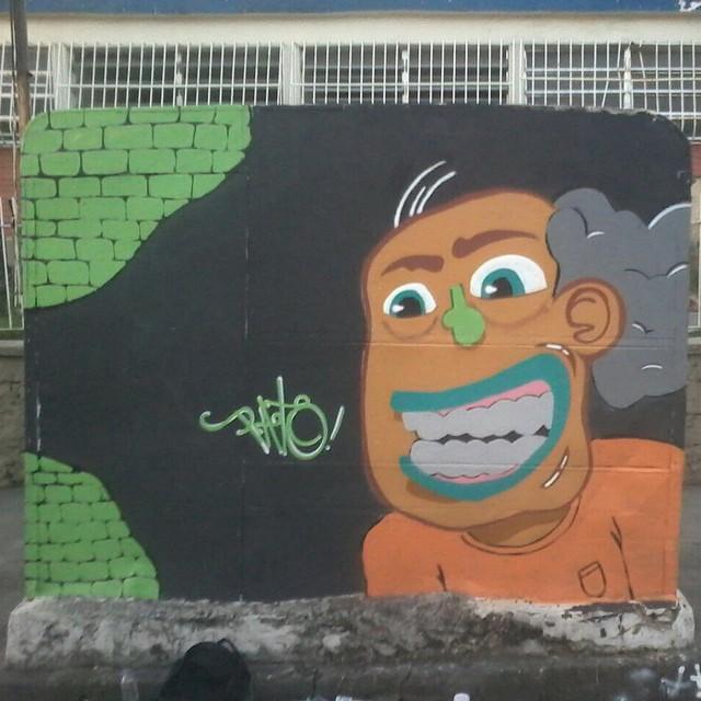 Hoje a tarde termino assim , puro visual ! #ruasdazn #pato #graffitiart #arturbana #streetartrio