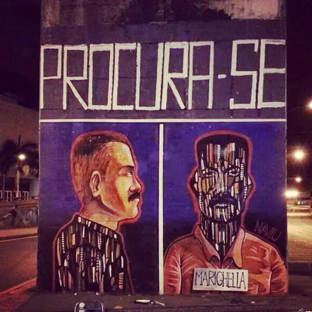 Marighella Vive ... Com Garvey #naviu #streetart #streetartrio #marighella #milfacesdeumhomemleal #racionais