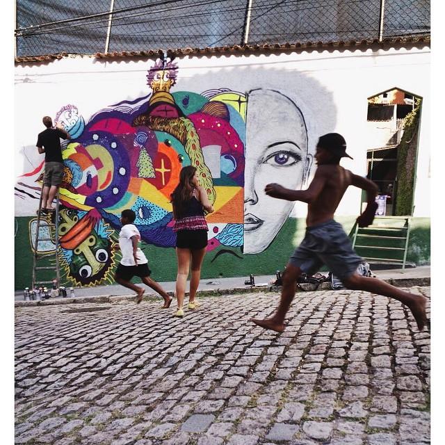 Menó só na correria  • @mundano_sp @leiga_ @swagone55 • #streetartrio #instagrafite #graffitiart #pngone