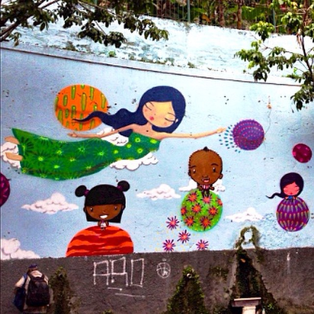 Part Of a Wall at Laranjeiras by @tozfbc