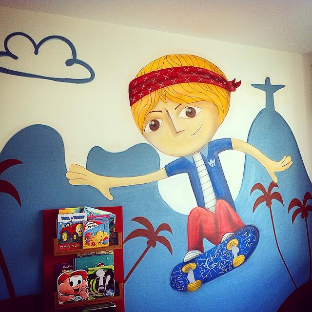 Quarto do sobrinho. #instagrafite #graffiti #streetart #sprayart #streetartrio #rj #instagraffiti
