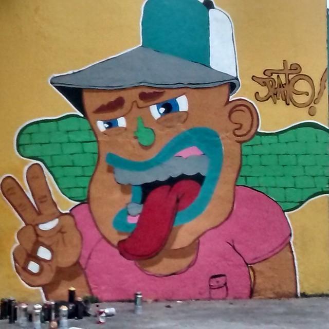 Resultado final de hoje em olaria! #ruasdazn #pato #streetartrio #arturbana #graffitiart