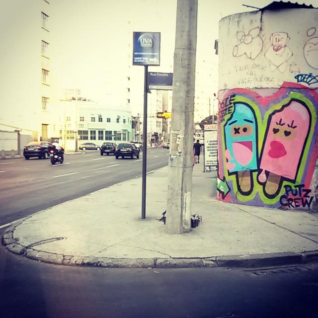 Rua Teixeira Soares com Rua Paraiba #dozetreze #picoles #apaixonados #lovers #azul #rosa #blue #pink #art #streetart #streetartrio #arterua #graffiti #zn # #mtn94 #tijuca #riodejaneiro #brasil #brazil #putzcrew