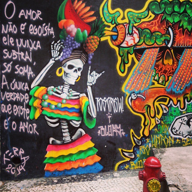 #streetartrio #art #grafitti #igers #rio450 #rio365 #spraycanart #skull #carmenmiranda