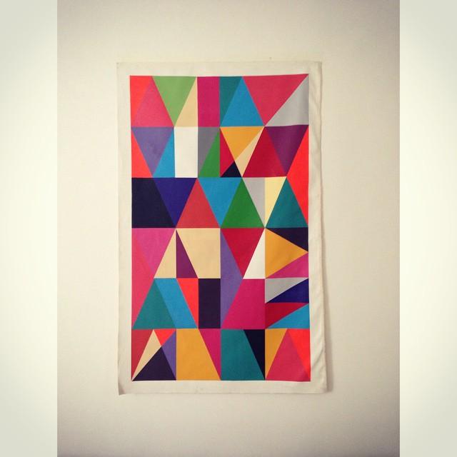 70x120cm 2014  #canvas #colors #cores #grid #geometric #graffitiart #streetartrio #studio #fresh