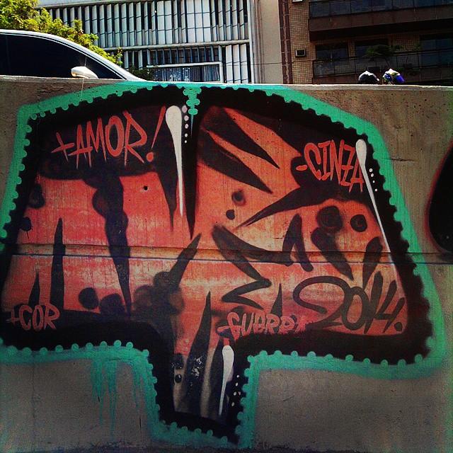 By @zoooup. Rio de Janeiro. 09/11/2014 | vandalogy #graffiti #spray #Zoup #lagoa #StreetArtRio #riodejaneiro #streetart
