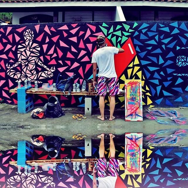 Cor! Foto da querida @rebfriedmann ! #Lefe #StreetArtRio #graffitiart #art