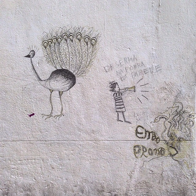 Desenha na parede! #streetart #streetartrio #urbanart #nofilter #centro #riodejanerio #brazil