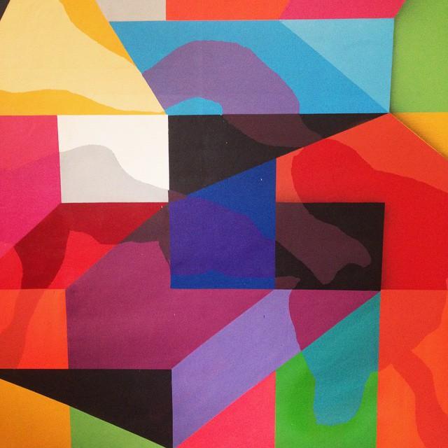 Detalhe tela :: Detail canvas 150x170cm 2014  #grid #graffitiart #geometric #studio #streetart #streetartrio #cores #colors #canvas #mga #antihorario #abstract #art