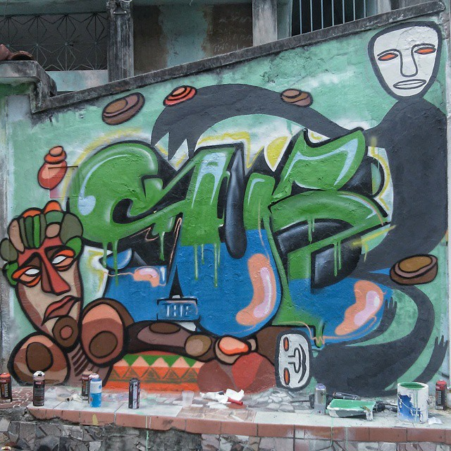 Hoje no MOF com @rodrigosub e Guilherme KID #graffiti #streetartrio #streetart #arteurbana #mof #thesub #ururahy #cubism