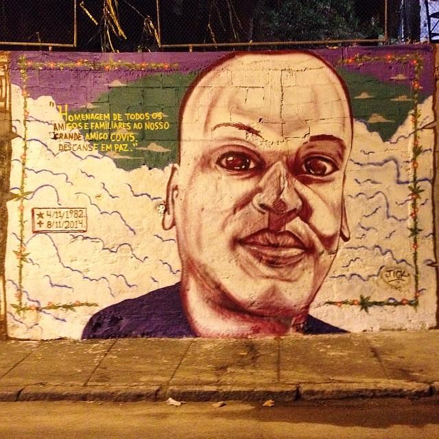 Homenagem ao amigo Careca. Esteja em paz irmão. #tick #homenagem #streetart #streetartrio #streetartoficial #galeriaaceuaberto #riodejaneiro #rip #graffiti #graffitiart #muralart #mural
