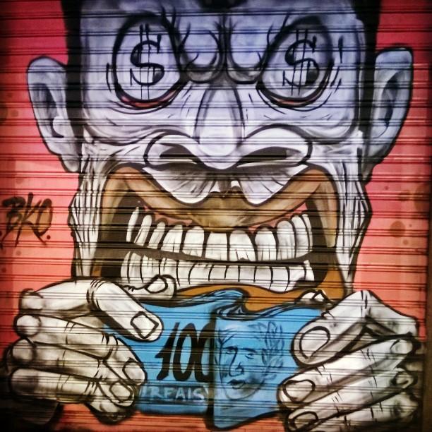 Loadsamoney #ipanema #streetartrio #graffiti #money