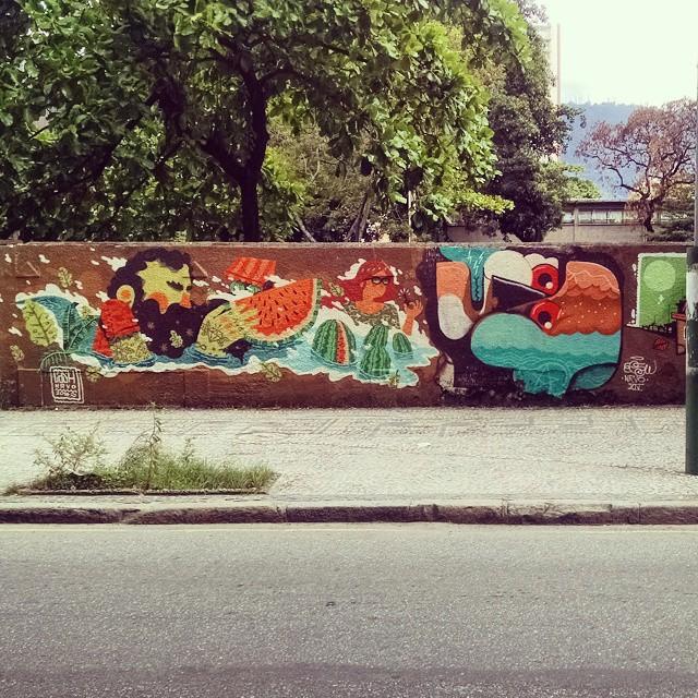 Melancia. #graffitirj #graffiti #streetartrio #streetart #riodejaneiro