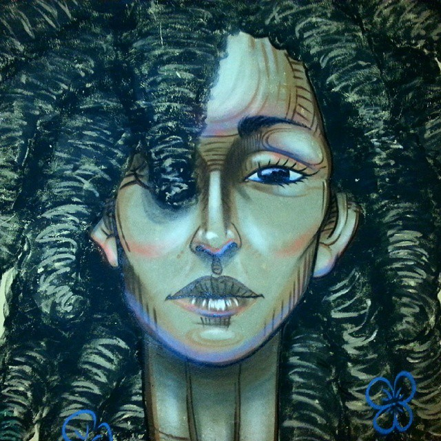 Minha Nega #streetart #streetartrio #blackpower #graffiti #garvey #naviu