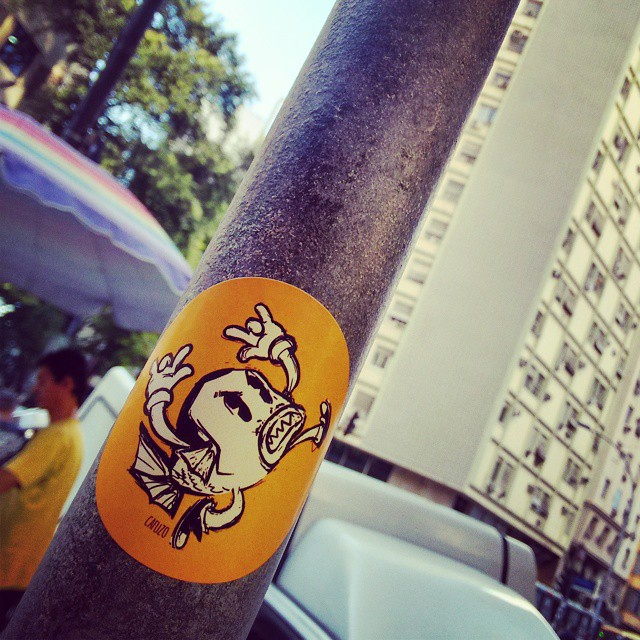 Mlk piranha! #StreetArtRio #Stickers
