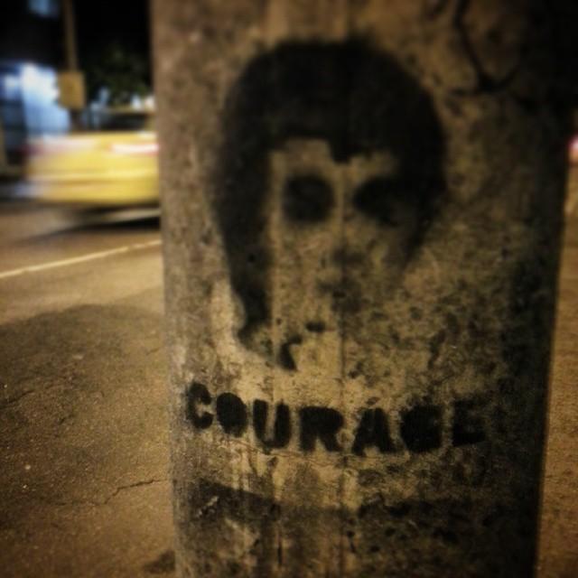 Nunca é demais: #courage. #riodejaneiro #StreetArtRio #rj #street #art #rioeuteamo #stencil #pic #photooftheday