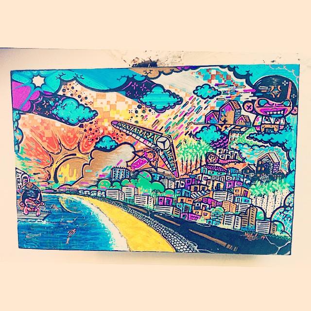 Obra finalizada ! #rio #cidade #psicodelico #voolivre #street #streetartrio #art #graffite @sockppxi
