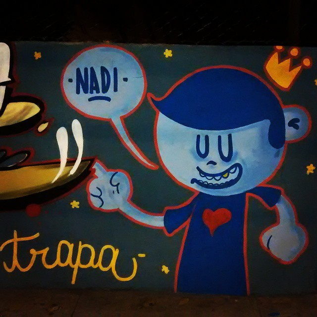 Olha ele aí. #trapacrew #nadi #streetartrio #streetart #graffiti #tafaltandomuro #possopintar #tijuca