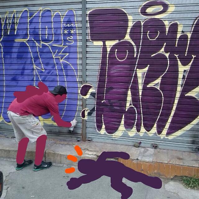 Say whaaaaaa??! #graffiti #tagsandthrows #bomb #bombing #tarm #sweetcrimes #sub #streetartrio #internet