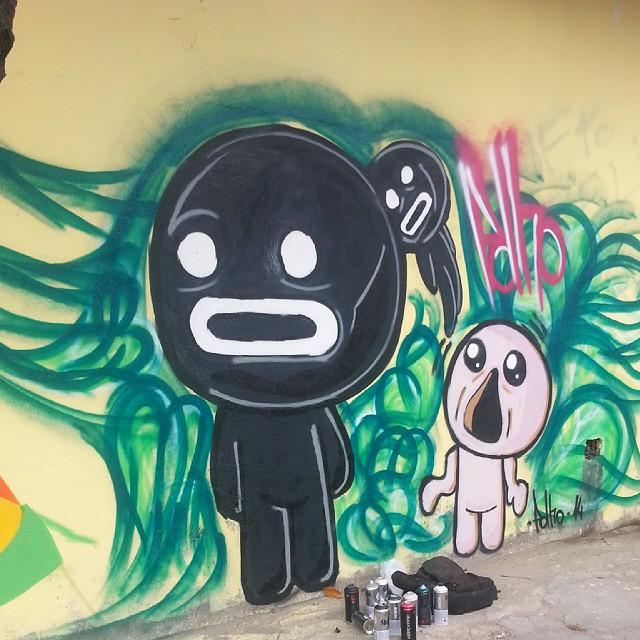 Steven chegou #streetartrio #polho #streetart