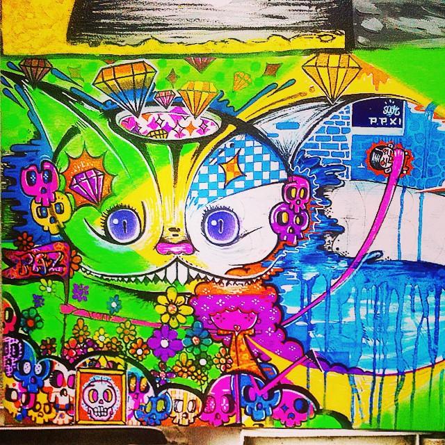 Tela! Em andamento... T.mista #gatorisonho #psicodelico #paz #tag #ppxi #caveiras #painting #brasil #rj #art #street #streetartrio #graffiti @sockppxi
